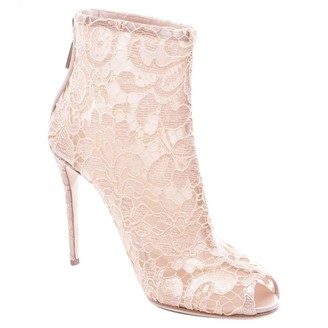 Dolce & Gabbana Pink Cloth Ankle boots