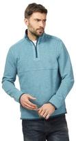 Mantaray Blue Pique Zip Neck Sweater