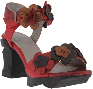 Spring Step L'Artiste by Leather Ankle Strap Sandals - Otileah