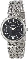 Versus By Versace Women's SGF010013 Acapulco Round Stainless Steel Chain Bracelet Black Dial Watch