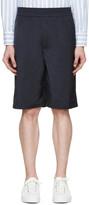 Neil Barrett Navy Matte Shorts