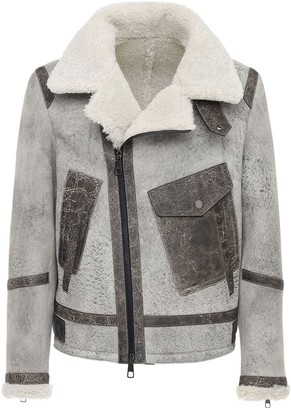 Neil Barrett Suede & Shearling Jacket