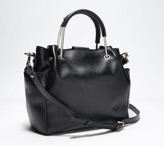 Patricia Nash Priola Metal Handle Leather Tote