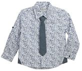 Sovereign Code Sovereign CodeTM Size 18M Splatter Shirt and Tie in Blue/White