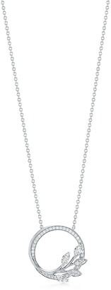 Tiffany & Co. Victoria diamond vine circle pendant in platinum, small