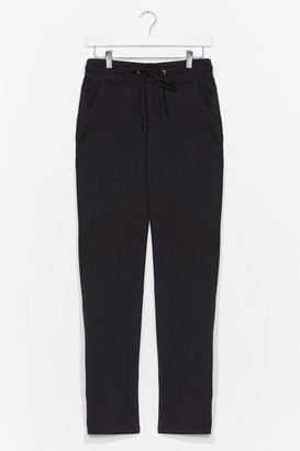 Nasty Gal Womens Run It By 'Em High-Waisted Joggers - Black - L, Black