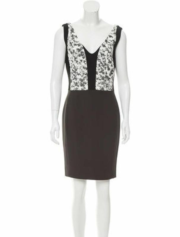 Narciso Rodriguez V-Neck Jacquard Dress Black