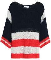 Sandro Paris Striped Open-Knit Sweater