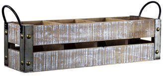 American Art Decor Wooden Crate 4 Bottle Tabletop Wine Rack