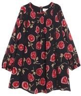 Kate Spade Girl's Rose Print Chiffon Dress