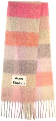 Acne Studios Striped alpaca, wool and mohair scarf