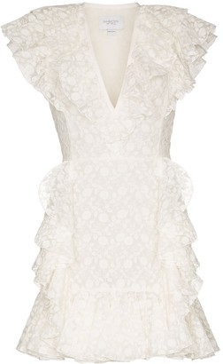 Giambattista Valli Embroidered Ruffle Mini Dress