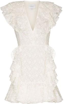 Giambattista Valli embroidered ruffle mini dress