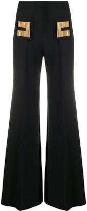 Elisabetta Franchi Logo Chain Trousers