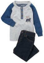 Lucky Brand Infant Boys) Two-Piece Raglan Henley & Jeans Set