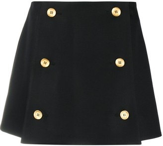 Ports 1961 Button-Front Mini Skirt