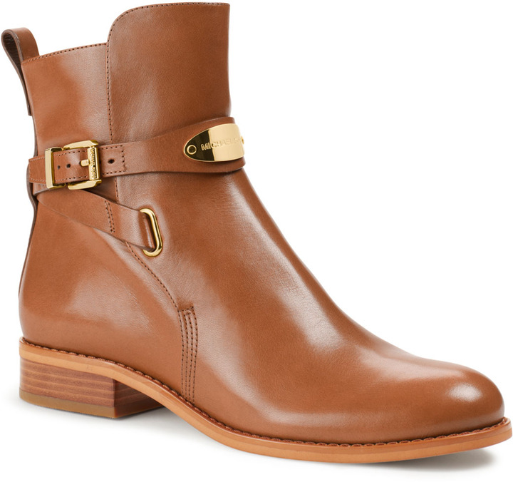 Michael Kors Arley Leather Ankle Boot