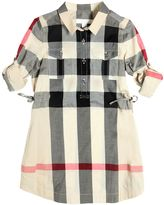 Burberry Check Cotton Poplin Shirt Dress