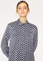 Paul Smith Women's Navy Polka Dot Pleat-Front Shirt Dress