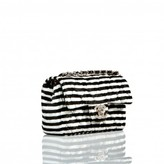 Chanel pristine (PR Extra Small Striped Mini Flap Bag, Rare