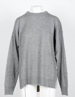 NOW Gray Wool and Cashmere Blend Women's Sweater