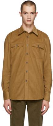 Prada Tan Cammello Two Pocket Shirt