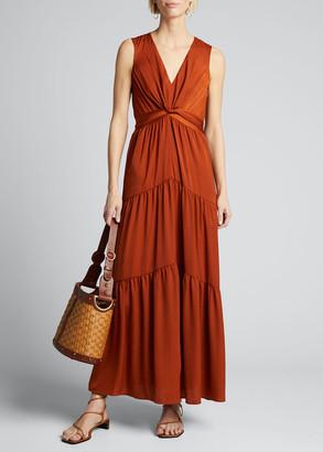 Kobi Halperin Courtnie Sleeveless Tiered Maxi Dress