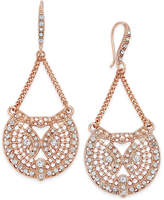 INC International Concepts Rose Gold-Tone Pave Filigree Drop Earrings, Created for Macy's