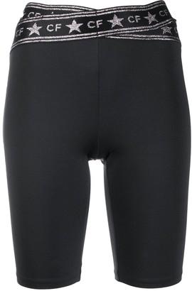 Chiara Ferragni Logo-Print Slim-Fit Shorts