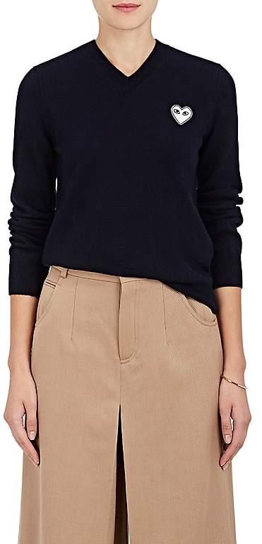 Comme des Garcons Women's Wool V-Neck Sweater