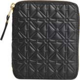 Comme des Garcons Embossed Leather linene zip around squared wallet