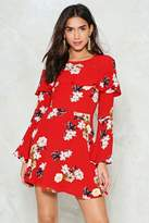 Nasty Gal Count the Waves Floral Dress