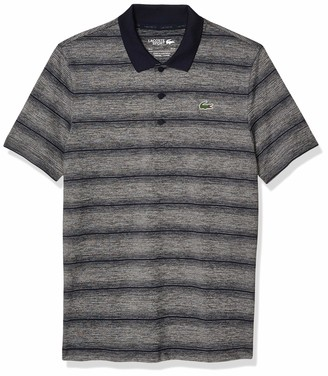 Lacoste Men's Sport Golf Striped Super Dry Polo Shirt