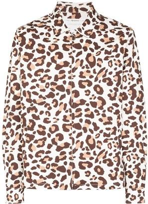 Reception Club leopard-print shirt jacket