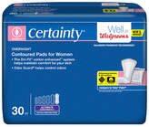 Walgreens Certainty Dri-Fit Pads for Women, Overnight Ultimate Absorbency Extra Protection