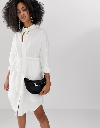 ASOS longline shirt dress with belt