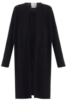 Allude Open-front Longline Wool Cardigan - Black
