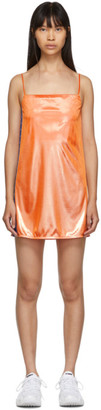 Anton Belinskiy Orange Lame Slip Dress