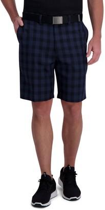 Haggar Men's Active Series Regular-Fit Plaid Shorts