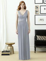 Dessy Collection - 2955LS Dress In Platinum Silver