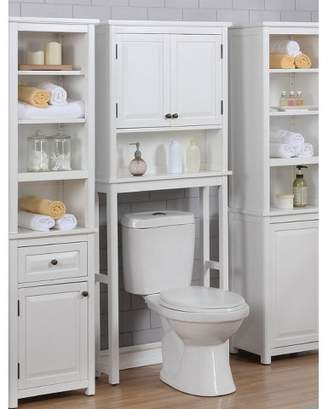 Alaterre Furniture Dorset Over The Toilet Space Saver Storage White
