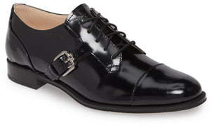 Tod's Buckle Cap Toe Oxford