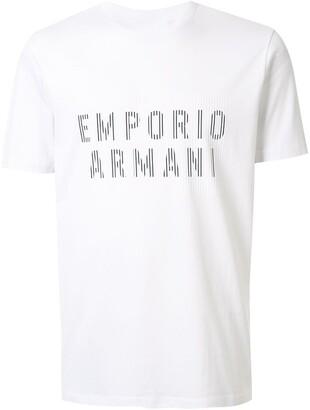 Emporio Armani line logo print T-shirt