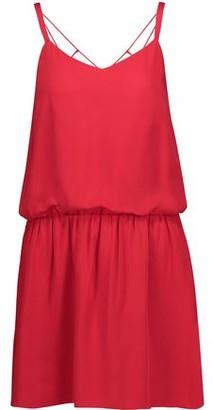 Haute Hippie Exit Strategy Cutout Silk-georgette Mini Dress