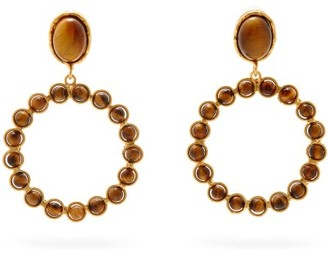 Sylvia Toledano Happy Tiger's Eye Clip Earrings - Brown