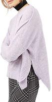 Topshop PETITE Zip Side Sweater