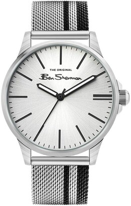 Ben Sherman Men's Japanese Quartz Watch with Stainless Steel Strap Multicolor 20 (Model: BS032SM)