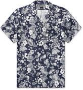 Todd Snyder Camp-Collar Floral-Print Linen Shirt