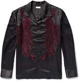 Dries Van Noten - Camp-collar Embroidered Cotton-blend Satin-twill Shirt