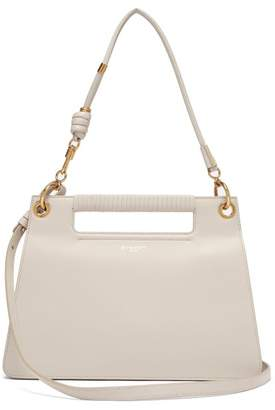 Givenchy The Whip Medium Cut-out Leather Cross-body Bag - Womens - Light Grey